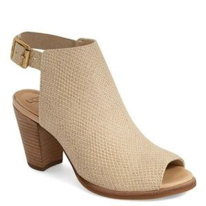 UGG AUDREY EXOTIC Embossed Leather Peep Toe Bootie